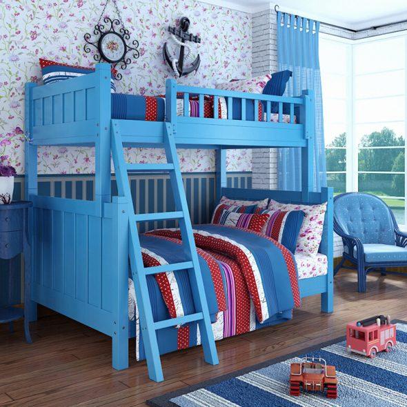 двухэтажная кровать в детскую для мальчиков