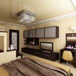 Дизайн спальни гостиной современный