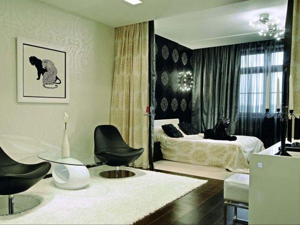 Дизайн маленькой гостиной спальни