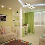 Интерьер спальни с гостиной