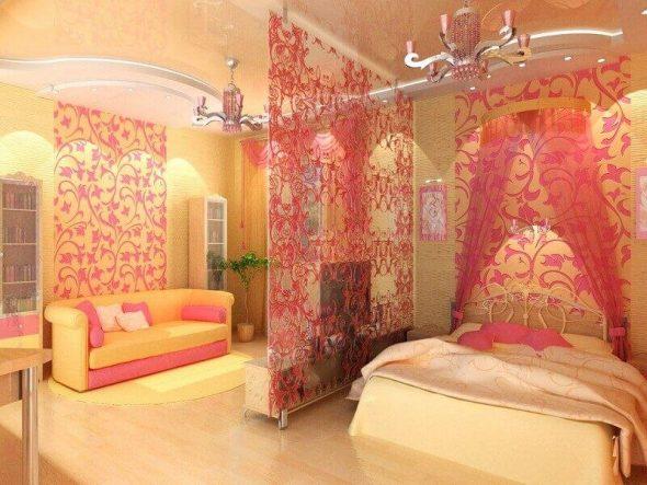 Яркие идеи дизайна гостиной спальни