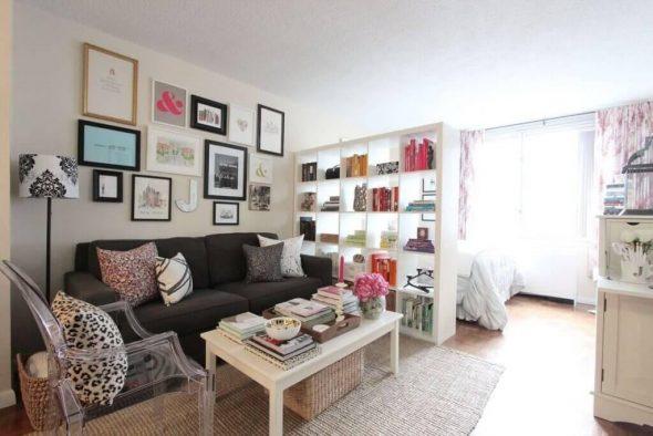 Как совместить спальню и гостиную