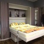 Подъёмная кровать ЕВРО с приставным диваном