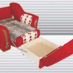 Раскладное Кресло-Кровать красного цвета