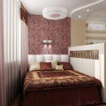 Разделение спальни гостиной