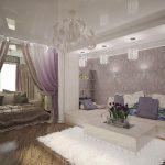 Спальня гостиная в двухкомнатной квартире