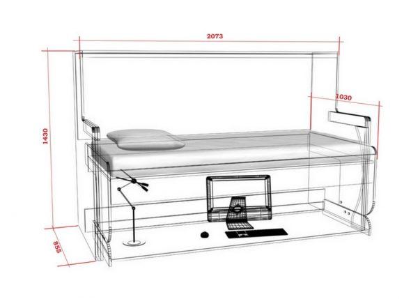 Стол-кровать трансформер Универсал