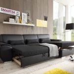 Угловой диван-кровать АНТАРА СМАРТ черный