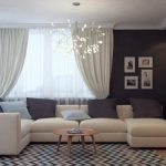 бежевый диван в интерьере гостиной