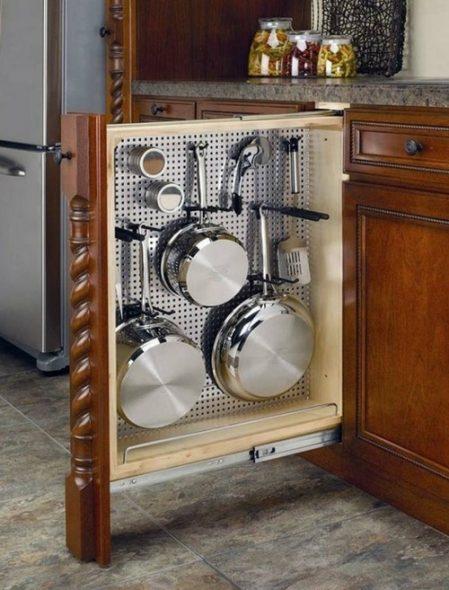 бутылочница со сковородками