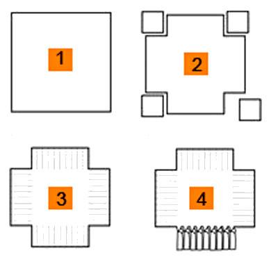 Схема кроя стеганного покрывала