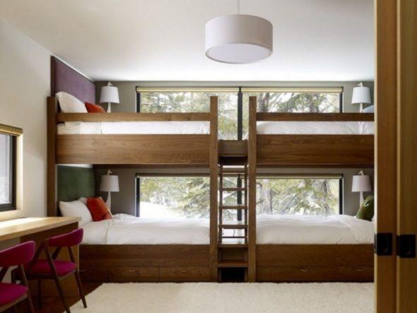 двухуровневая кровать для многодетной семьи