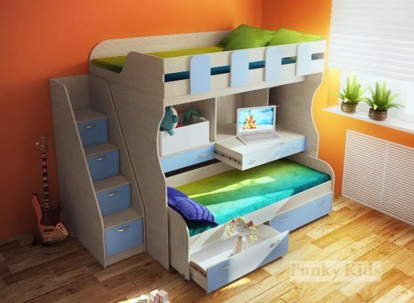 двойная кровать для мальчиков в детскую
