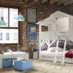 белая кроватка домик
