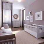 детская кроватка в интерьере спальни
