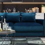диван еврокнижка синий