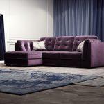 угловой фиолетовый диван еврокнижка