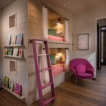 двухуровневый домик кровать с подсветкой
