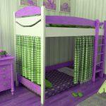 кровать с бортиками в стиле прованс