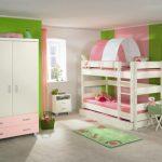 девчачья двухуровневая кровать