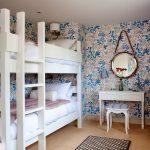 двухъярусная кровать белая дерево