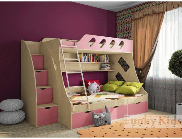 двухэтажная кроватка фанки кидс