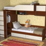 проста двухуровневая кровать