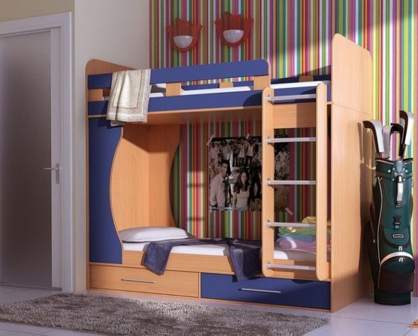 двухъярусная кровать удобная