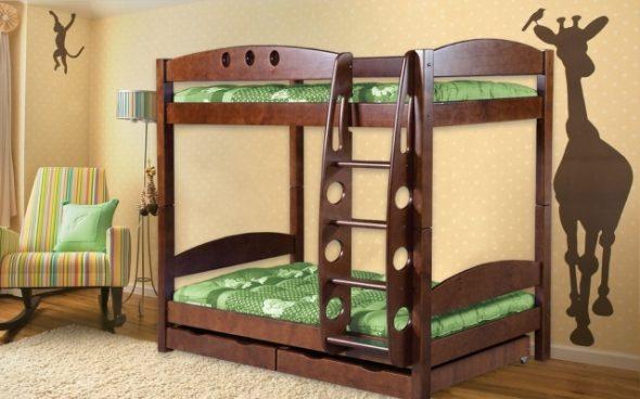 двухъярусная кровать высокая
