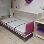 Горизонтальная кровать комод для девочки