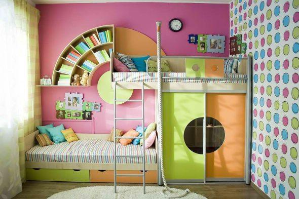 детская кровать со шкафом