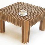 кофейный столик из картона
