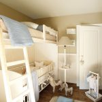 стильная кровать для двоих детей