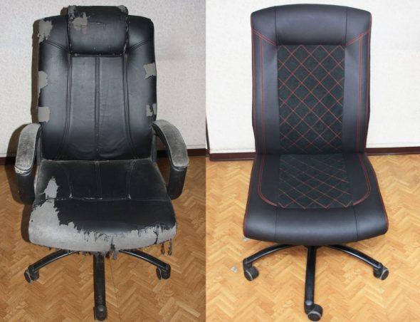 компьютерное кресло перетянуть