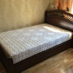 темно коричневая кровать полуторка