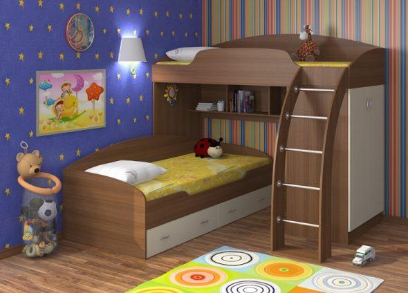 кровать чердак в детскую комнату