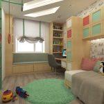 Кровать диван в детской комнате