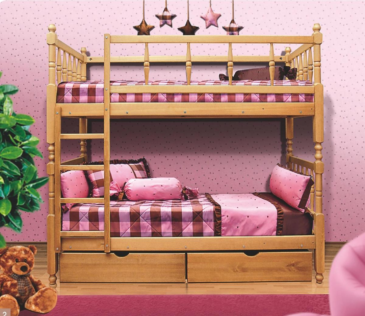 двухъярусная кровать в детскую в стиле шебби шик