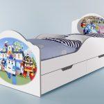 кровать с ящиками и бортиком для детей