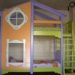 разноцветный домик кроватка