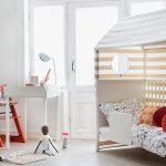 стильный домик кровать для девочки