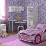машинка кроватка для спальни девочки