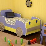 простая модель кроватки машинки