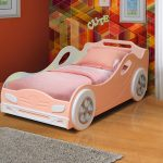 стильная кровать машинка для девочки