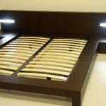Кровать с ламелями своими руками