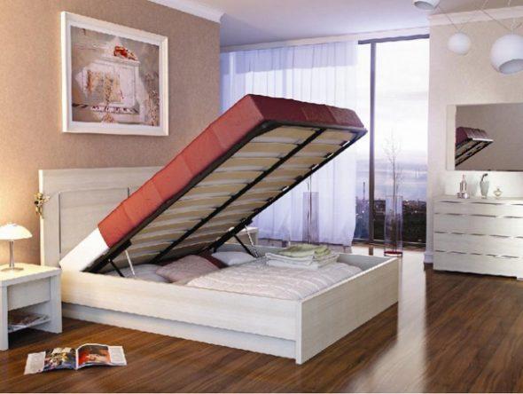 кровать с нижним шкафом