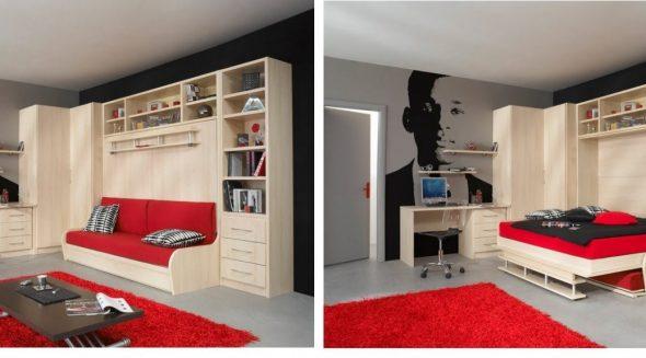 Кровать со шкафом