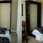 Кровать спрятанная в шкафу черная