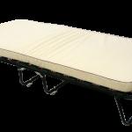 кровать тумба с бежевым матрасом