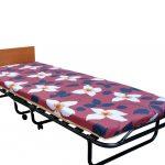 кровать тумба с цветочным матрасом